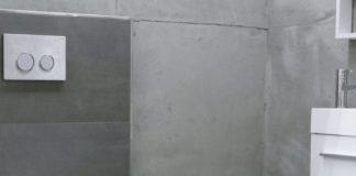 Bad mit Fliesen im Beton-Look