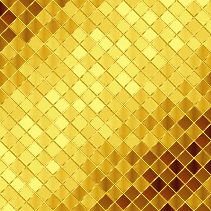 Goldene Fliesen. Cool Gold Fliesen Textur Hintergrund
