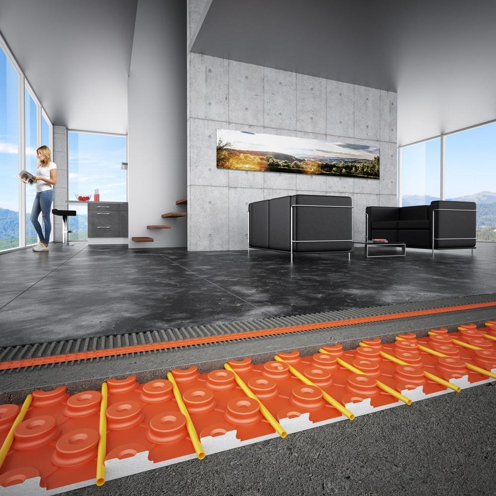 Fußbodenheizung Schlüter