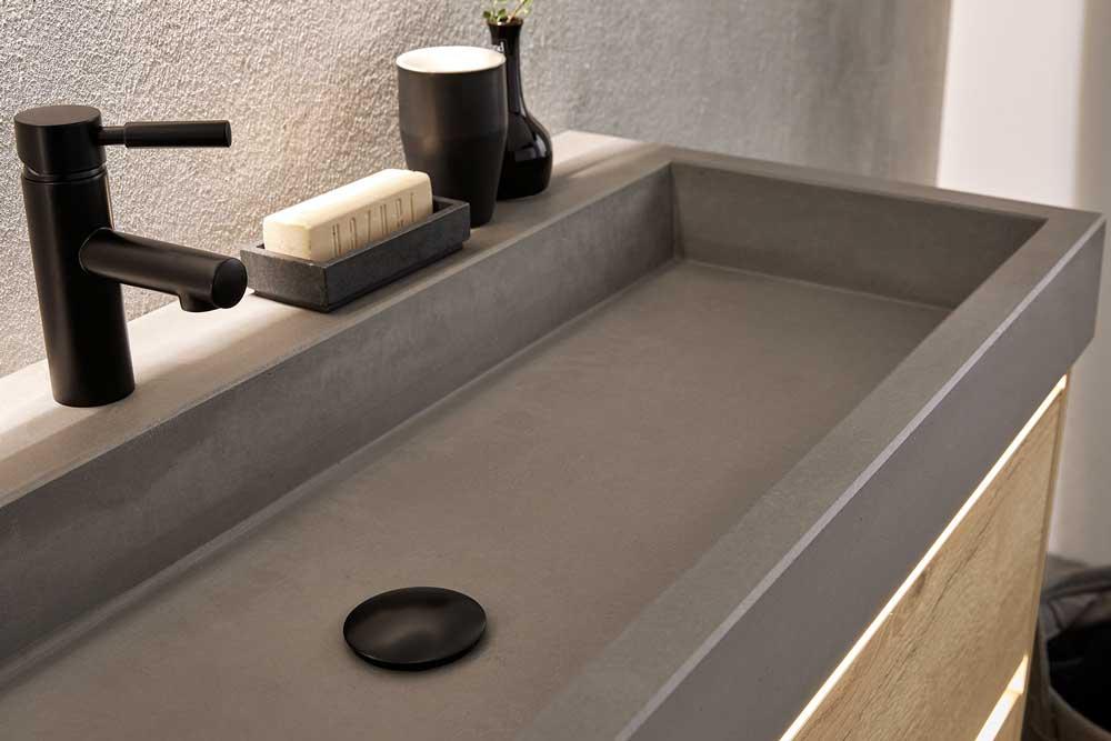 Waschbecken in Anthrazit Rise