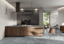 Blue Savoy Flaviker Küche Steinoptik
