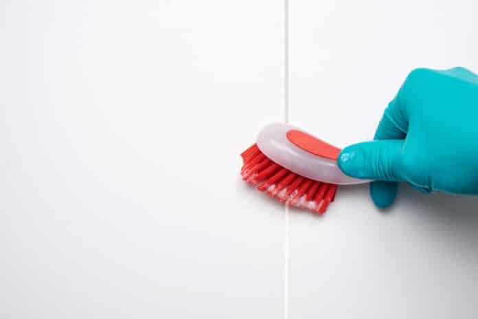Fliesenfugen reinigen