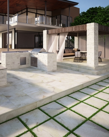 PrimeCollection Nature Terrassenplatte bianco 60x60 cm