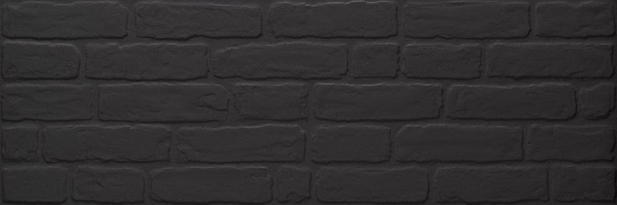Keraben Wall Brick Wandfliese Black 30x90 cm