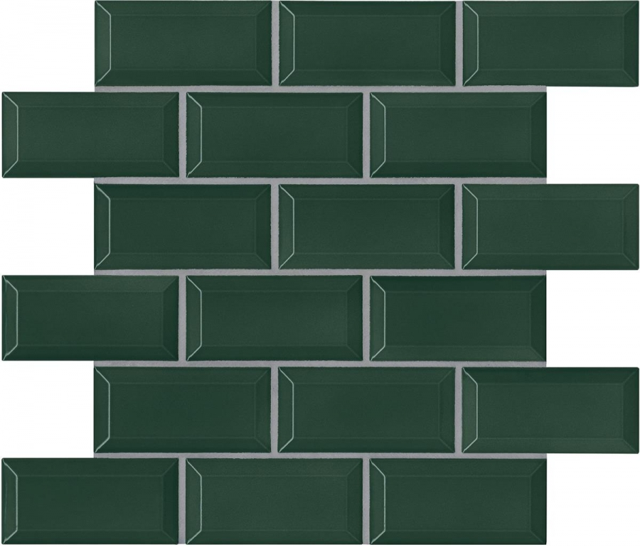 Agrob Buchtal District Mosaik racing green 5x10 cm