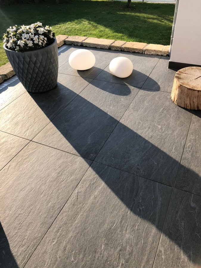 PrimeCollection Wave Terrassenplatte Black 60x120 cm